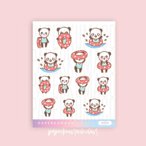 Summer Panda Fun Stickers