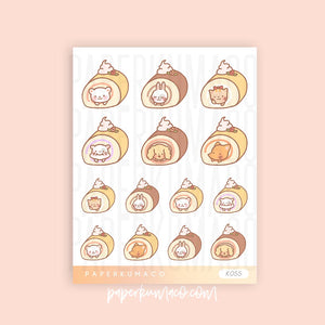 Cake Animal Kawaii Stickers