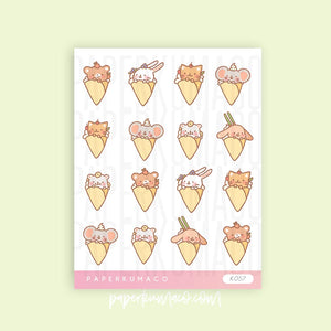 Crepe Animal Stickers