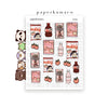 Peach Kawaii Foods Stickers