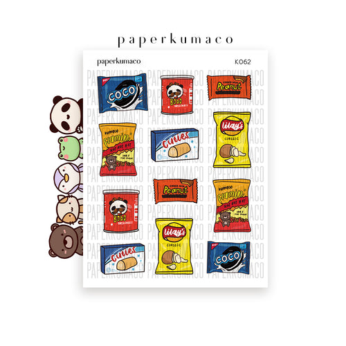 Kawaii Junk Food Stickers