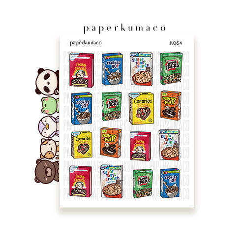 Kawaii Cereal Box Food Stickers
