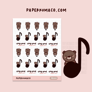 Musical Coco Stickers - PK20