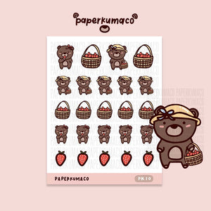 Coco Strawberry Picking Stickers