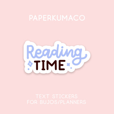 Reading Time Text Stickers