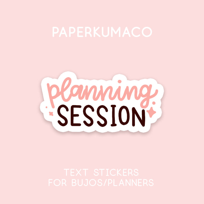 Planning Session Text Sticker