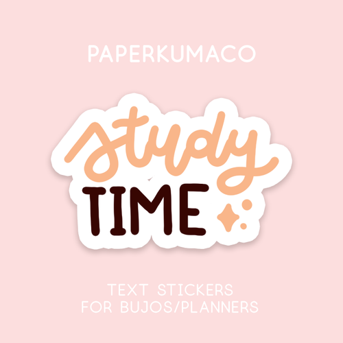 Study Time Text Stickers