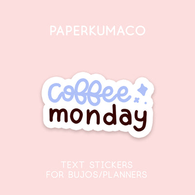 Coffee Monday Stickers