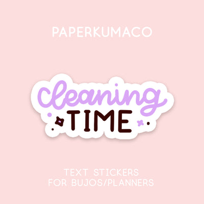 Cleaning Time Stickers