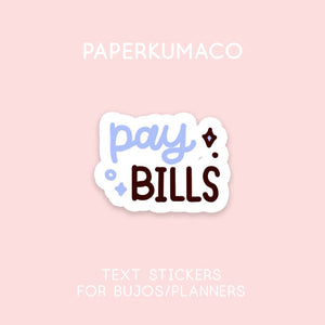 Pay Bills Stickers