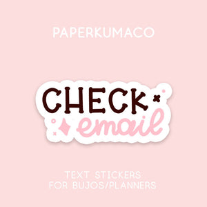 Check Email Stickers