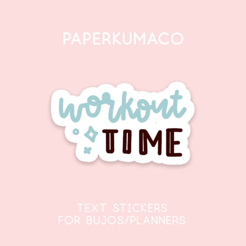 Workout Time Stickers