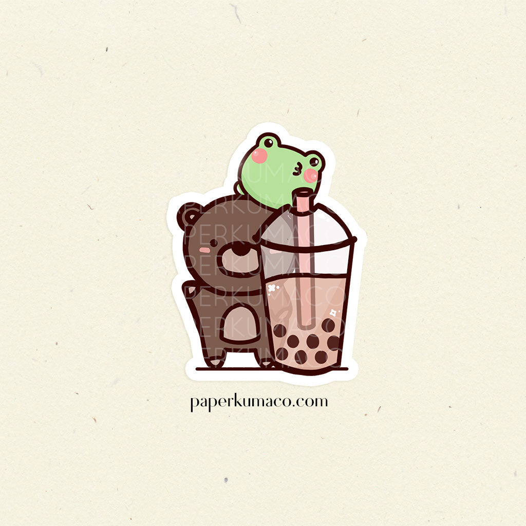 Coco and Lili Boba Vinyl Sticker