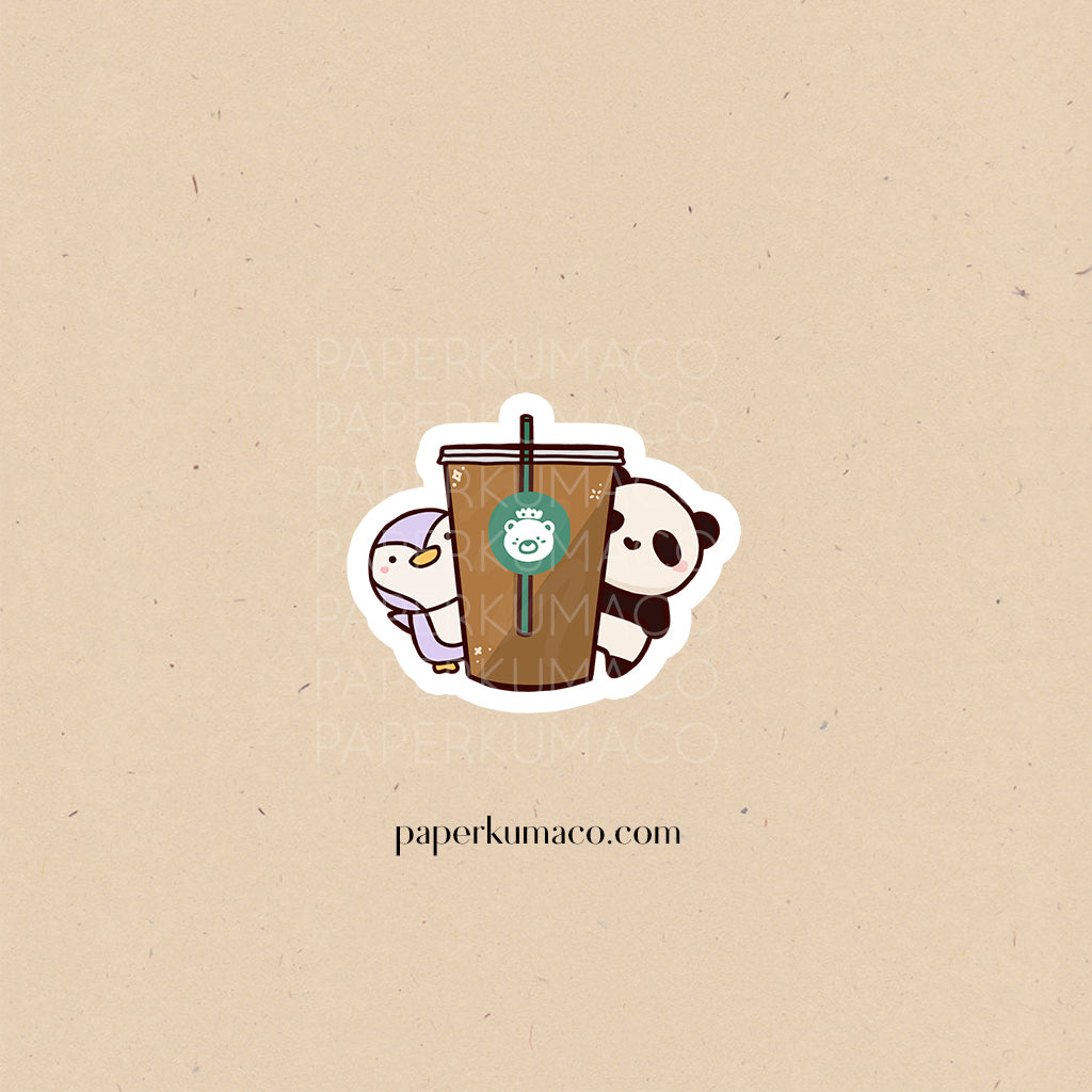 Toto and Bobo Coffee Vinyl Sticker