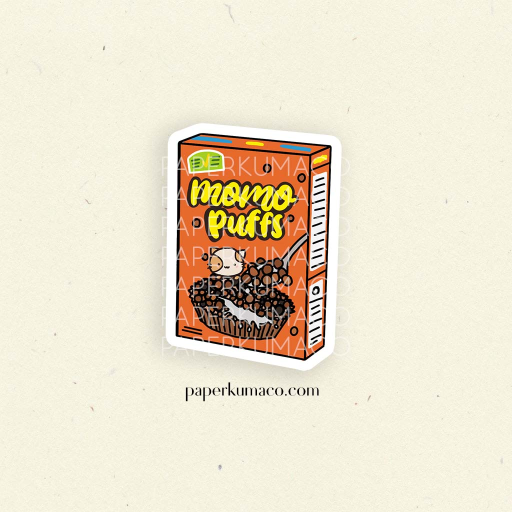 Momo Puffs Cereal Vinyl Sticker