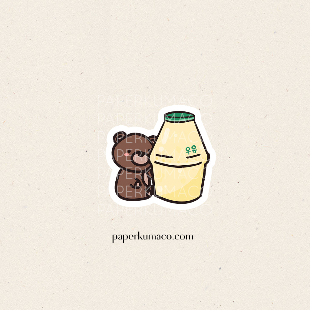 Coco Banana Milk Vinyl Sticker