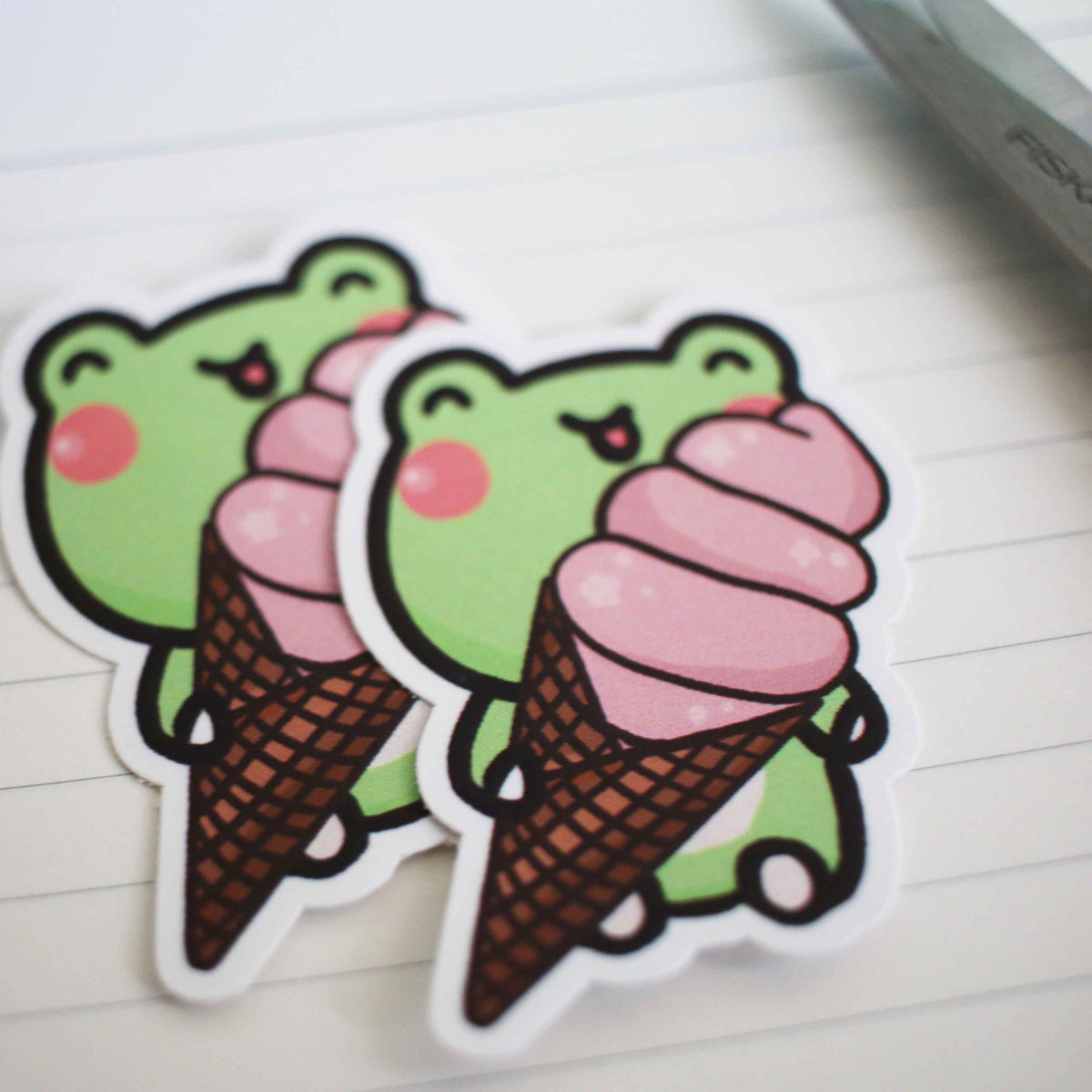 Lili Ice Cream Vinyl Sticker