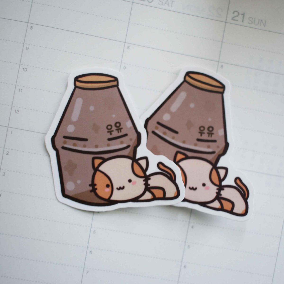 Momo Chocolate Milk Vinyl Sticker