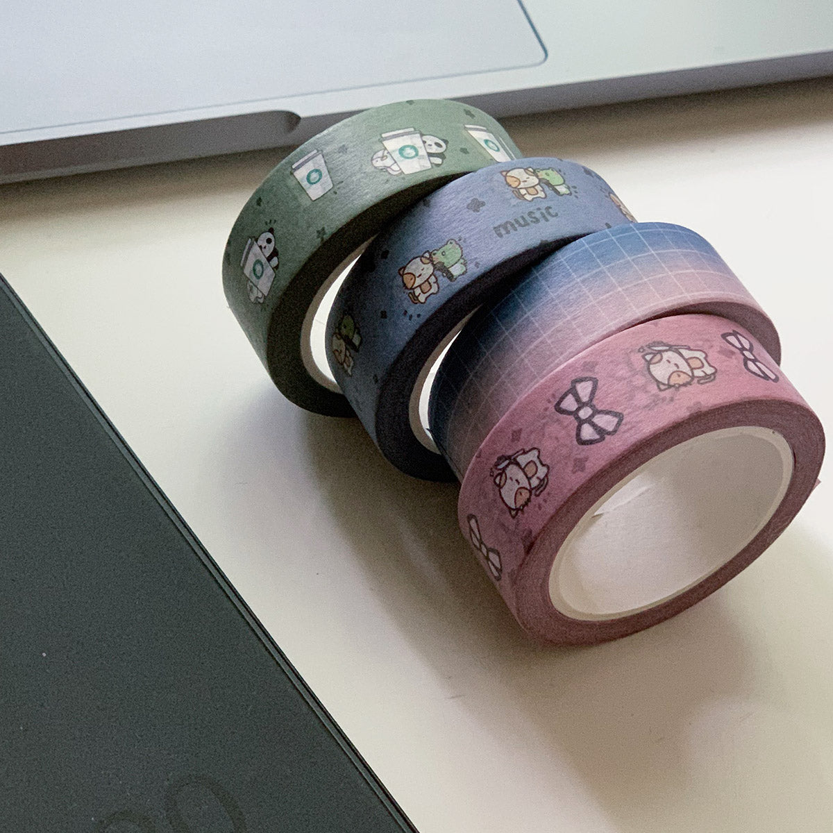 Momo Bow Lover Vertical Washi Tape