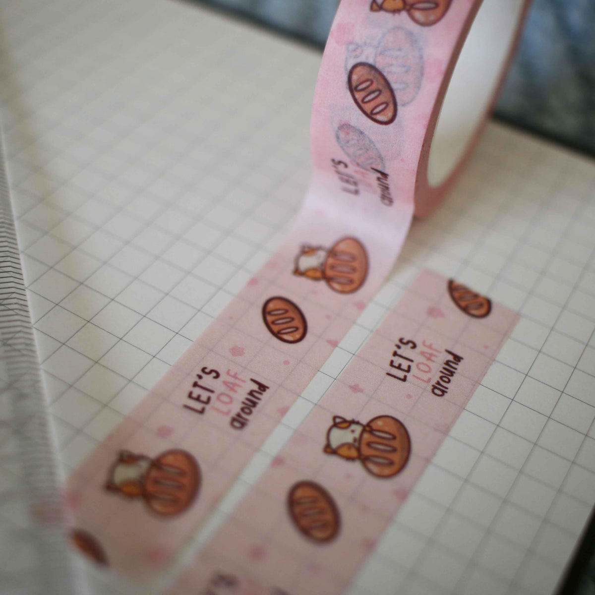Let's Loaf Around Pink Washi Tape