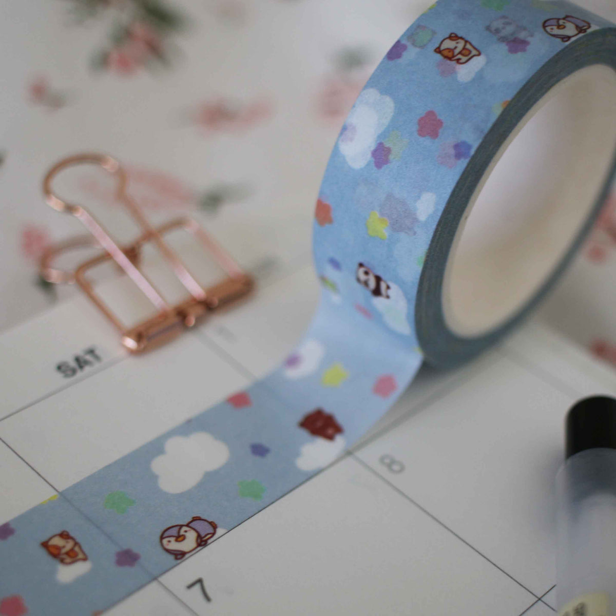 Dreamy Cloud Squad Blue Washi Tape