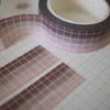 Cappuccino Gradient Grid Washi Tape