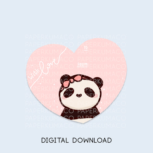 Bobo Valentine's Day Card - Digital Download