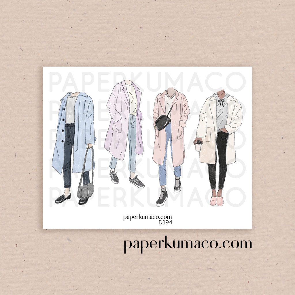Pastel Coats Fashion Stickers