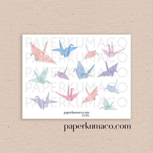 Paper Cranes Stickers