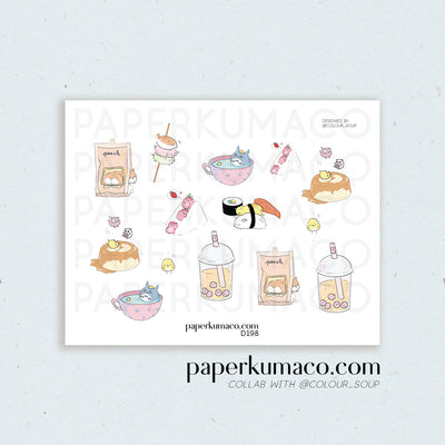 Kawaii Animal Foodie Stickers