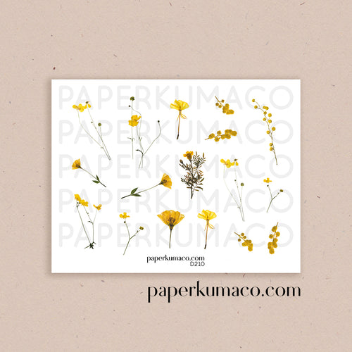Yellow Wildflower Stickers
