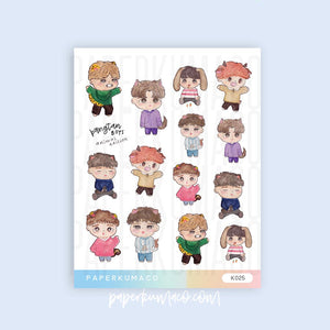 BTS Animal Stickers
