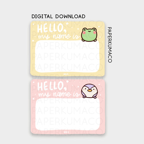 Lili & Toto Name Tag - Digital Download