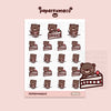 Coco Strawberry Cake Stickers