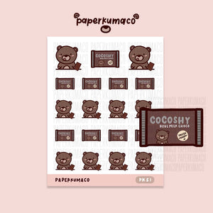 Coco Chocolate Stickers