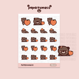Coco Peach Stickers