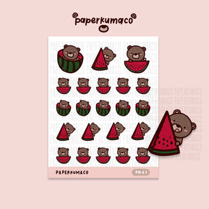 Coco Watermelon Stickers