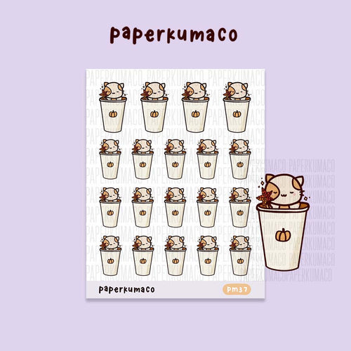 Momo Pumpkin Spice Latte Stickers