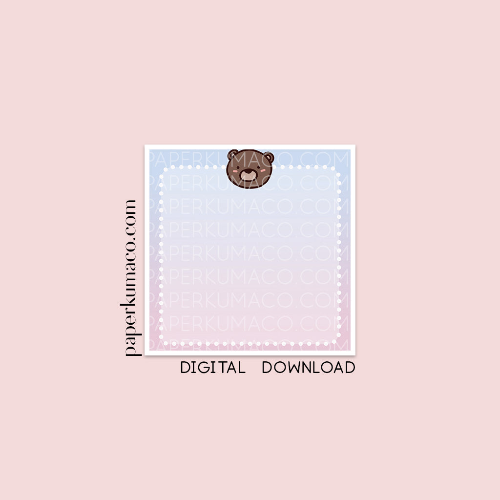 Coco Ombre Memo - Digital Download