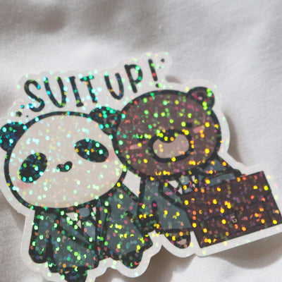 Suit Up Sticker Flake