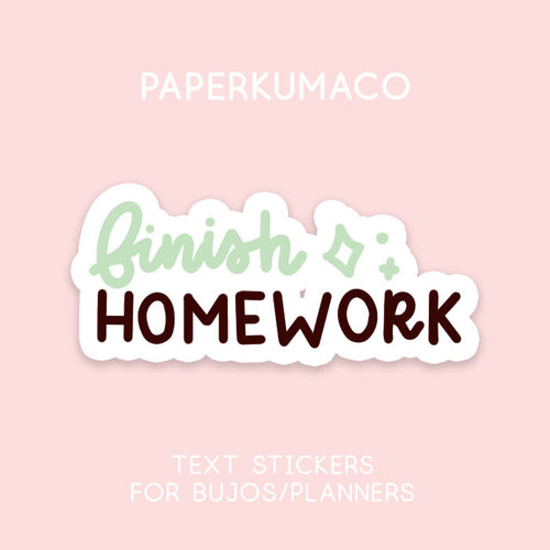 Finish Homework Stickers