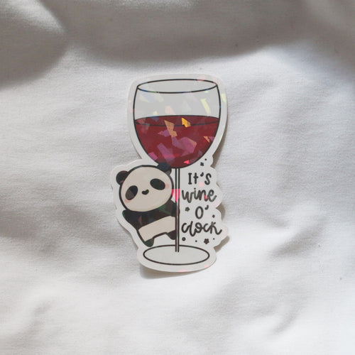 Wine O' Clock Sticker Flake