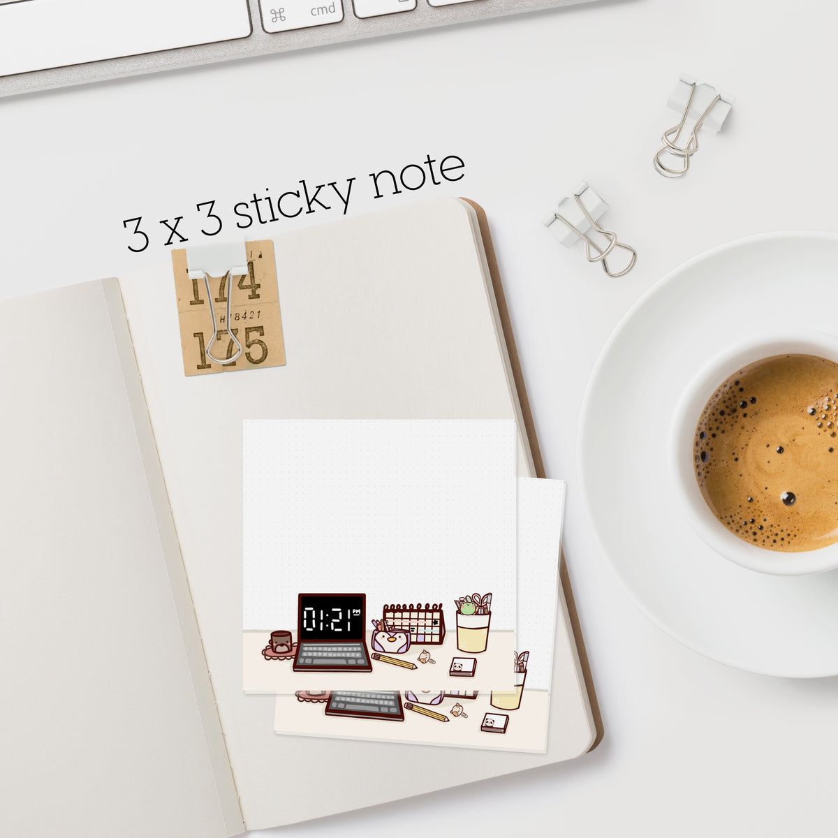 Desktop Scene Sticky Note