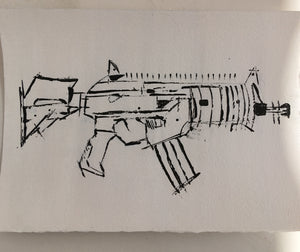 IWI GALIL ACE 21 N by ARTIST JAMES SOTER TACTICAL COLLECTION FIRST EDITION ACRYLIC on AQUARELLE ARCHES© 640g PAPER