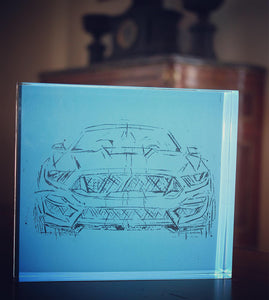 SHELBY 2020 FORD MUSTANG ARTIST JAMES SOTER PLEXIGLASS
