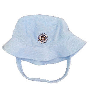 blue Terry towel hat flower inner relm