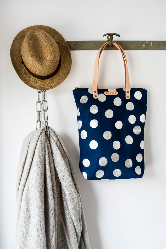 Shopper - DOLLY DOTS - blue/silver
