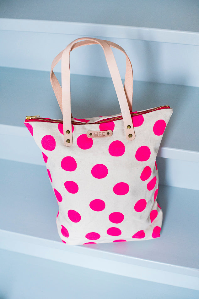 Shopper - DOLLY DOTS - pink