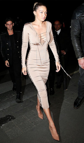gigi hadid laceup dress sexy dress