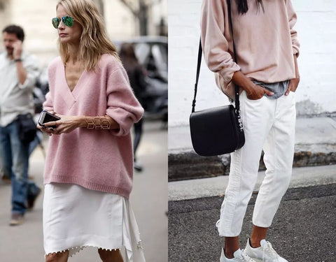 2018 pink and white fashion combination